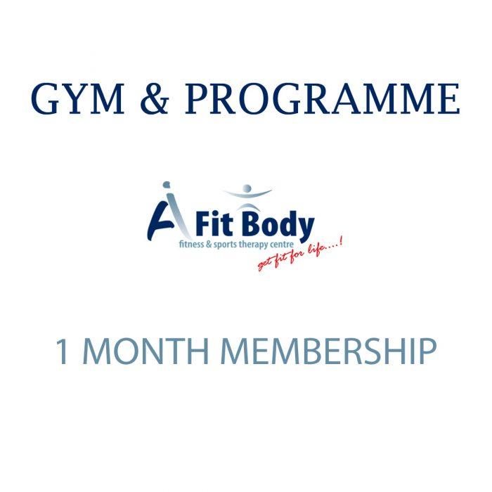 Gym & Programme - 1 Month Membership